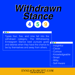 withdrawing stance enneagram