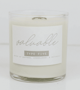 enneagram 5 candle